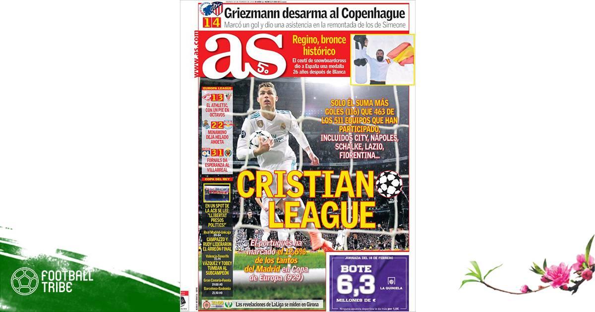 """Điểm tin Real Madrid 16/02 (Mồng một Tết): """"Giải đấu của Cristiano"""""""