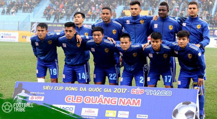 Lịch thi đấu lượt đi V.League 2018 của Quảng Nam FC