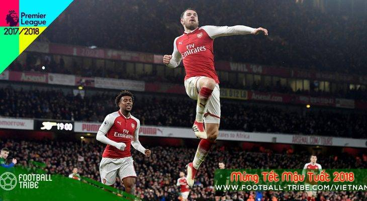 Vòng 26 Premier League 2017/18: 5 điểm nhấn sau chiến thắng Arsenal 5-1 Everton