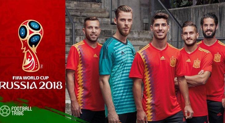 Cận cảnh bộ cánh mới của đội tuyển Tây Ban Nha tại WC 2018
