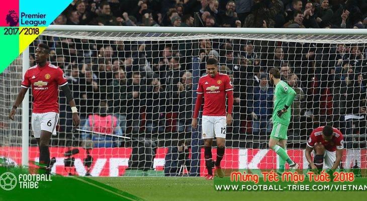 Vòng 25 Premier League 2017/18: Manchester United sụp đổ tại Wembley