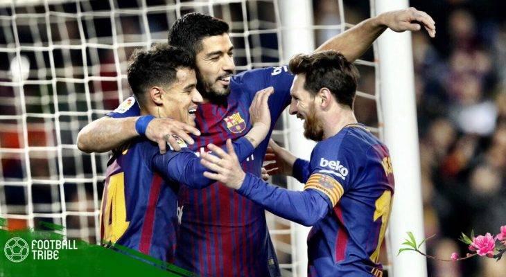 Điểm tin trưa 25/2: Coutinho mở hàng, Barcelona xây chắc ngôi đầu bảng