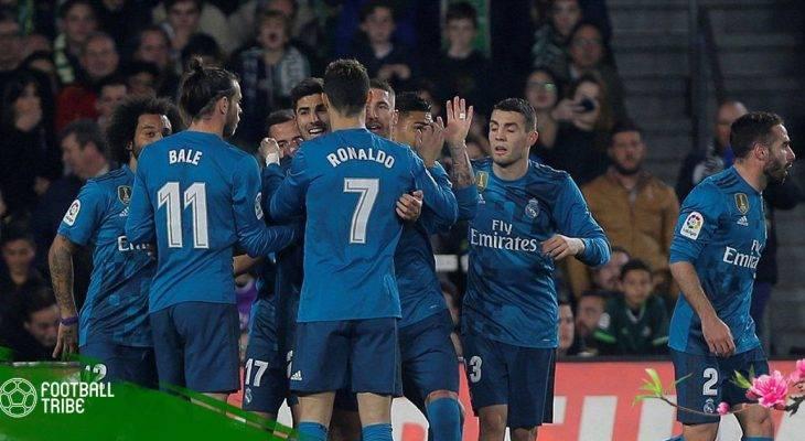 Real Madrid đánh bại Betis trong trận cầu mưa bàn thắng