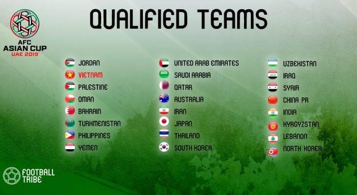 Xác định 24 đội lọt vào vòng chung kết Asian Cup 2019