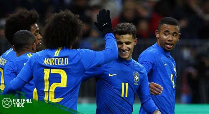 Tổng hợp loạt trận giao hữu quốc tế: Brazil khẳng định sức mạnh
