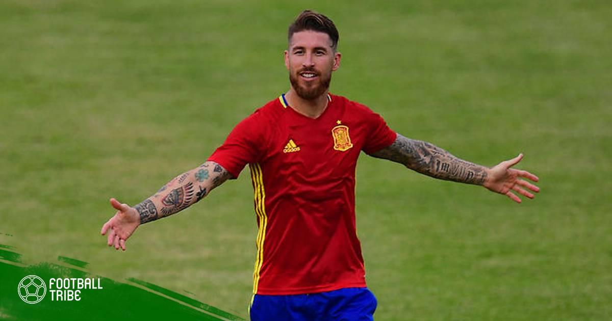 """NÓNG: Ramos """"tính sổ"""" Chủ tịch RFEF ngay trên sân tập!"""
