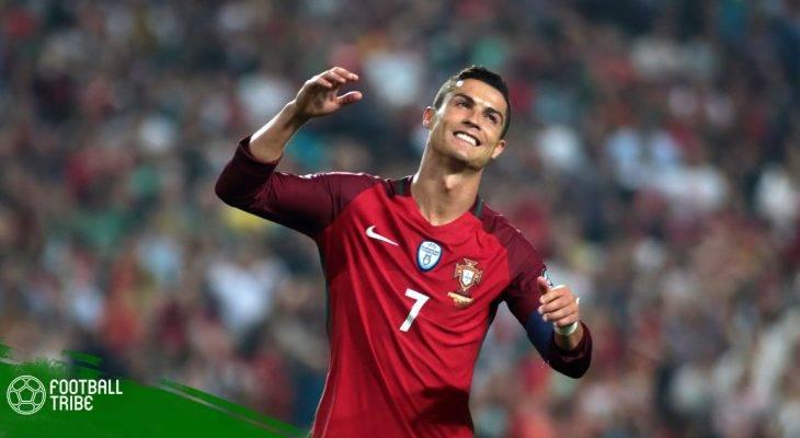 Ronaldo bị fan hâm mộ cưỡng hôn ngay trên sân cỏ