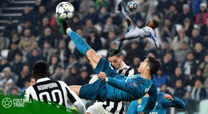 Cristiano Ronaldo Jr tái hiện siêu phẩm của cha trên sân Bernebeu