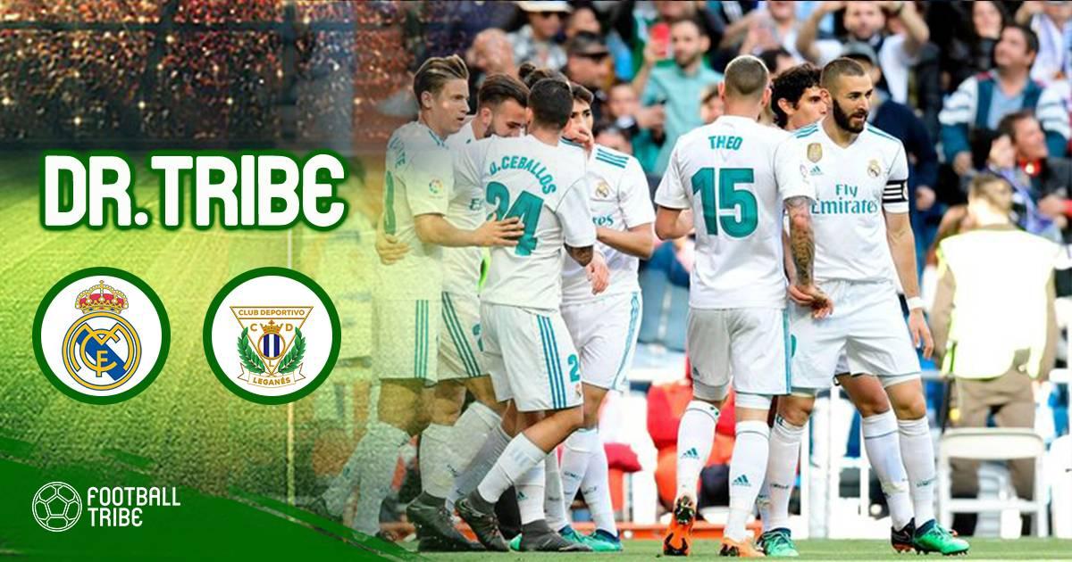 Dr Tribe Real Madrid 2-1 Leganes: Thảnh thơi điền tên vào Champions League 2018/19