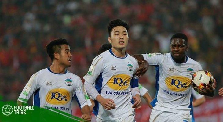 Hạ Nam Định, HAGL có chiến thắng đầu tiên tại V.League 2018