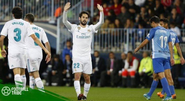 Malaga 1-2 Real Madrid: Không Cristiano, có Isco