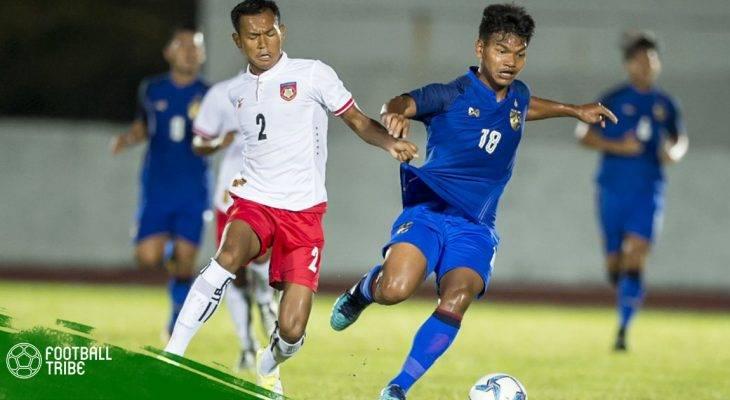 Dùng cầu thủ từ Nhật Bản về, U22 Thái Lan vẫn suýt thua U22 Myanmar
