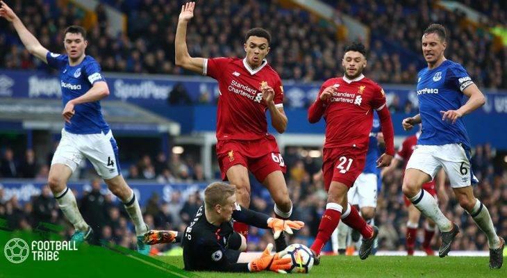 Vòng 33 Premier League 2017/18: Liverpool hòa nhạt nhòa Everton trong ngày không có Salah