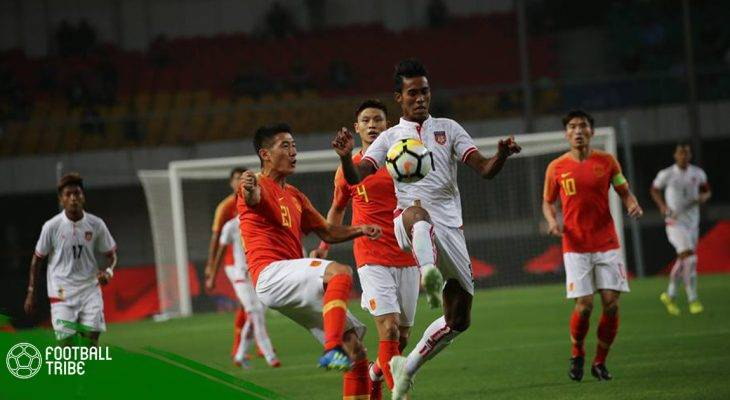 Myanmar thua sát nút trước Trung Quốc
