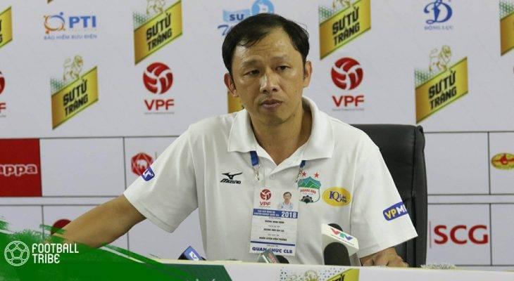 HLV Dương Minh Ninh từ chức sau khi HAGL thi đấu tệ ở V.League 2019