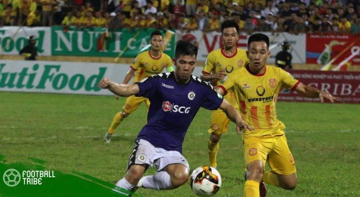 Hạ Nam Định, Hà Nội củng cố ngôi đầu tại V.League