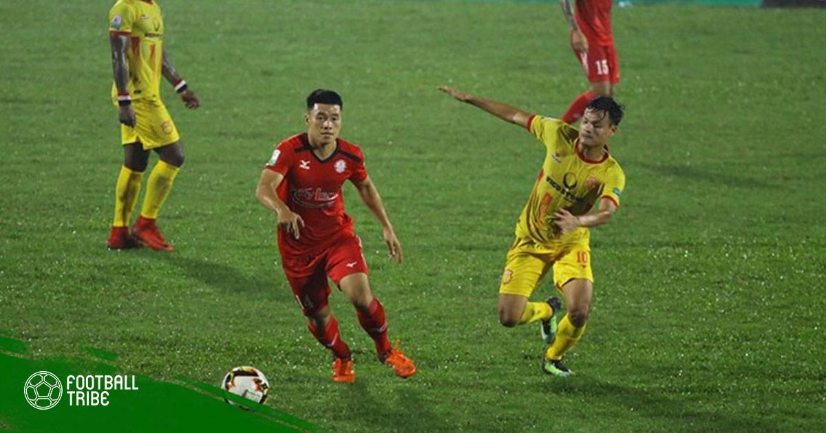 Vòng 17 V.League | Nam Định thua đáng tiếc Sài Gòn trong trận thủy chiến
