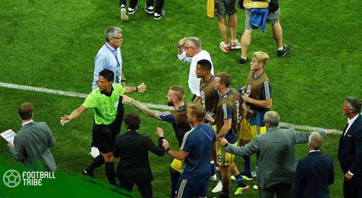 """Đức và Thụy Điển """"đấu võ"""" sau bàn thắng của Toni Kroos"""