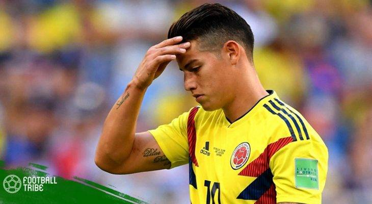 Colombia nhận hung tin từ James Rodriguez