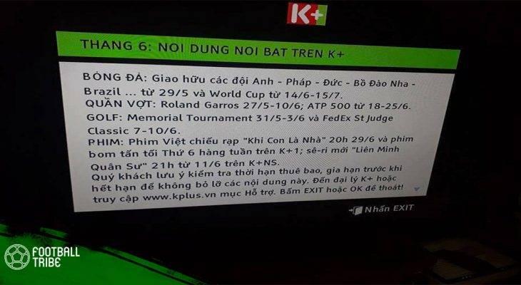 K+ phủ nhận việc đàm phán mua bản quyền World Cup