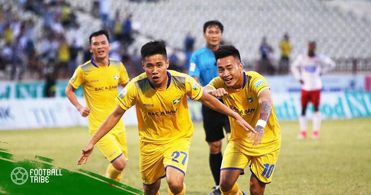 Bán kết lượt đi Cup QG: Hàng thủ mắc lỗi, FLC Thanh Hóa thua đau SLNA
