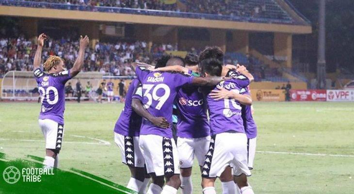 Vòng 16 V.League| Hoàng Vũ Samson tỏa sáng, Hà Nội thắng nhọc Quảng Nam