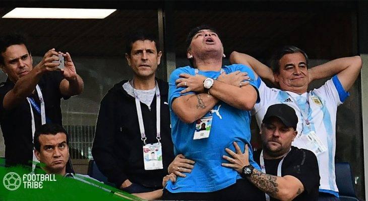 """Diego Maradona tụt huyết áp sau khi """"phát điên"""" cùng Argentina"""