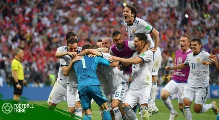 """Điểm nhấn Nga 1-1 (pen 4-3) Tây Ban Nha: Chủ nhà kiên cường, """"Bò tót"""" hết dũng khí"""