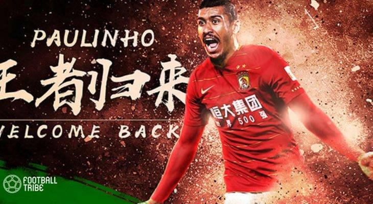 Paulinho trở lại Trung Quốc chỉ sau một mùa chơi cho Barcelona