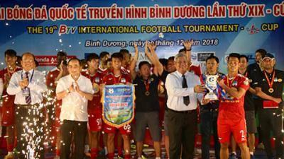 HAGL đại bại trước B.Bình Dương trong ngày nhận cúp vô địch BTV Cup
