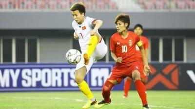 Đội tuyển nữ Việt Nam thắng sít sao Myanmar tại Mandalay
