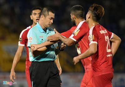 Trọng tài Nguyễn Trọng Thư không được phân công nhiệm vụ ở vòng 5