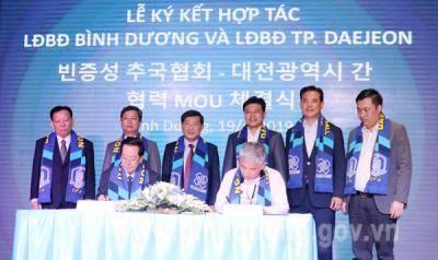 Bình Dương và thành phố Daejeon (Hàn Quốc) hợp tác phát triển bóng đá