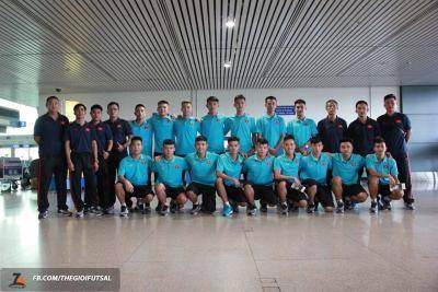 U20 futsal Việt Nam lên đường sang Iran dự giải châu Á