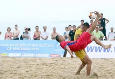 Đà Nẵng giành vé sớm vào chung kết Giải bóng đá bãi biển QG 2019