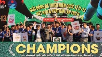 Giải bóng đá quốc tế U13 Việt Nam – Nhật Bản lần 2-2019: B.Bình Dương vô địch